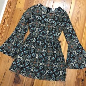 Printed dress size Small